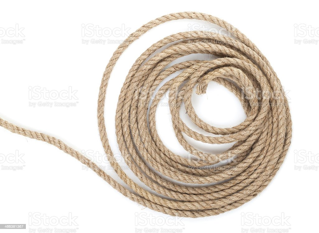 Roll of ship rope stock photo