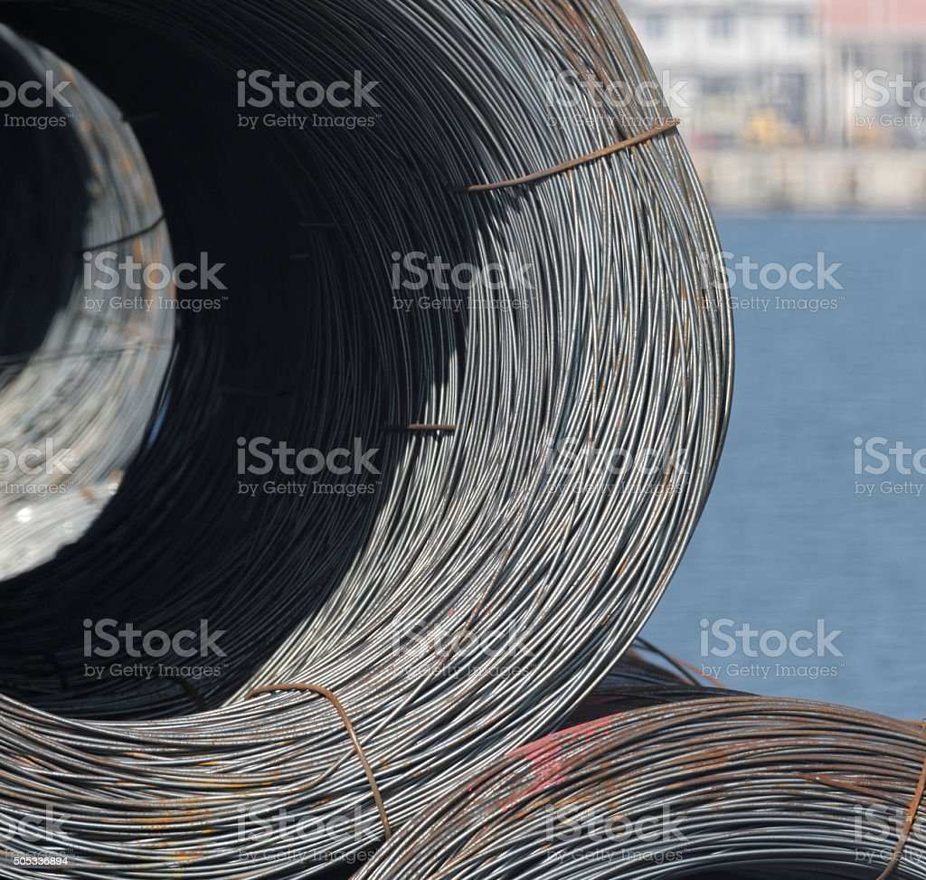 roll of steel stock photo