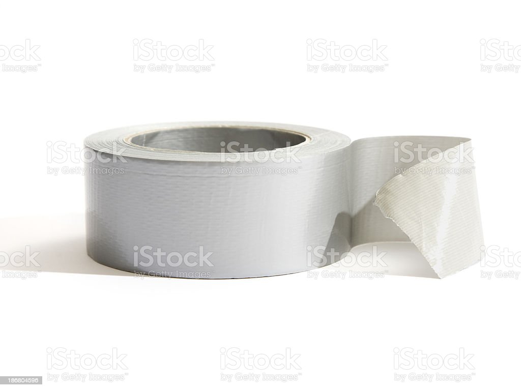 A roll of sticky tape on white royalty-free stock photo