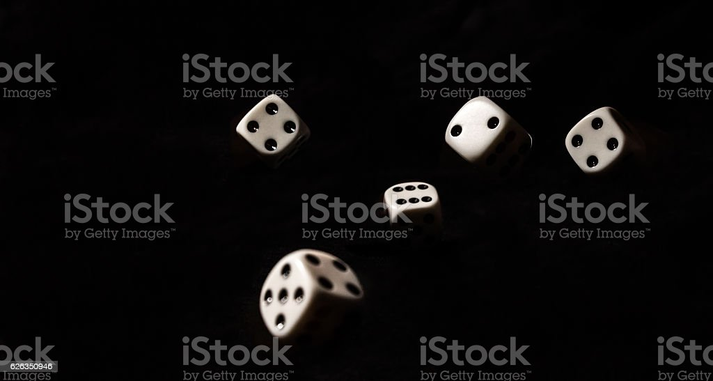 Roll of the Dice stock photo