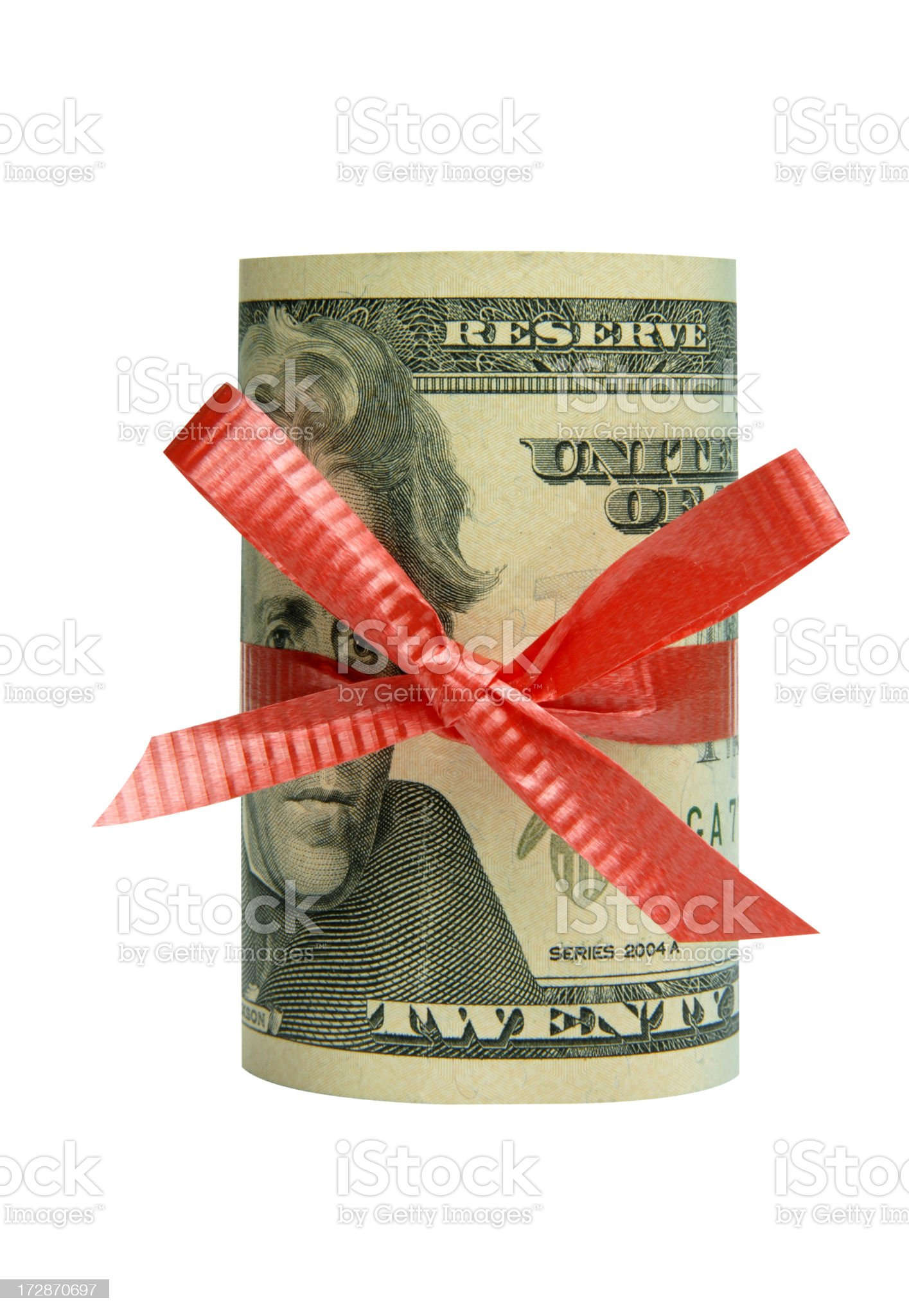 Roll of US dollars royalty-free stock photo