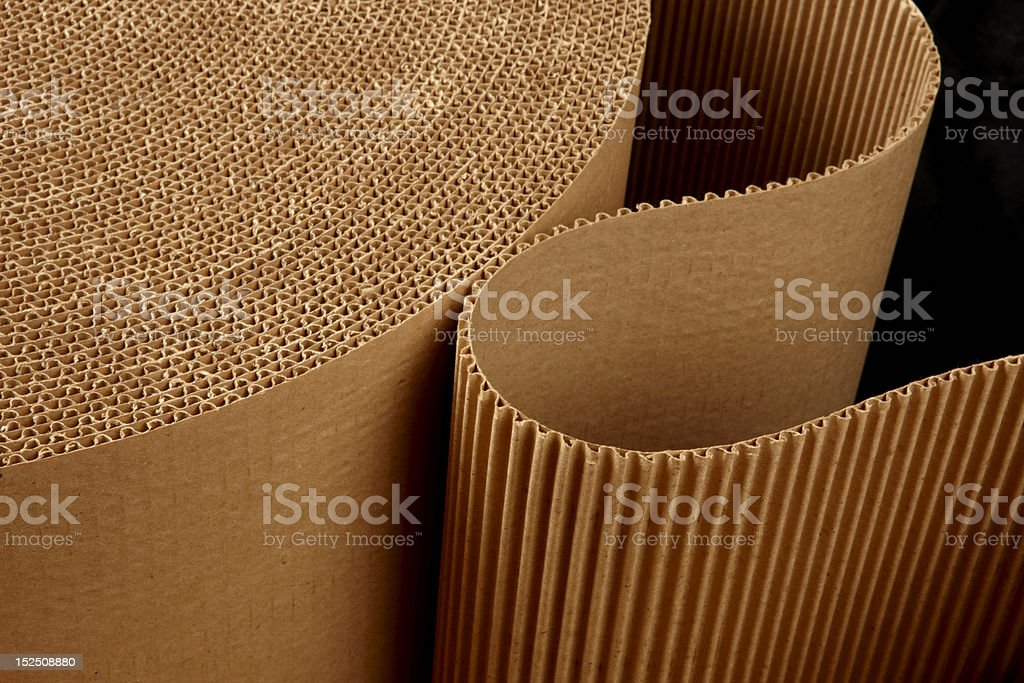 Roll of wavy corrugated stock photo