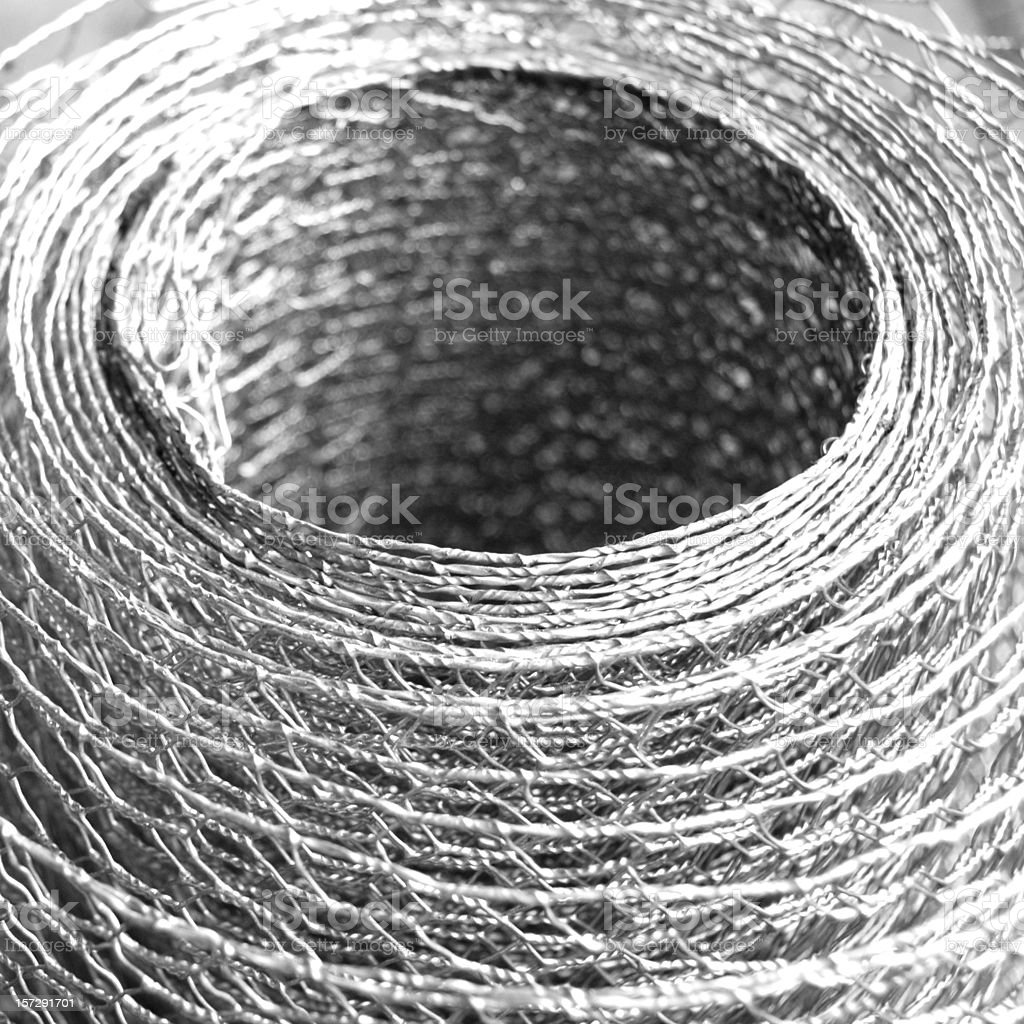 Roll of wire netting royalty-free stock photo