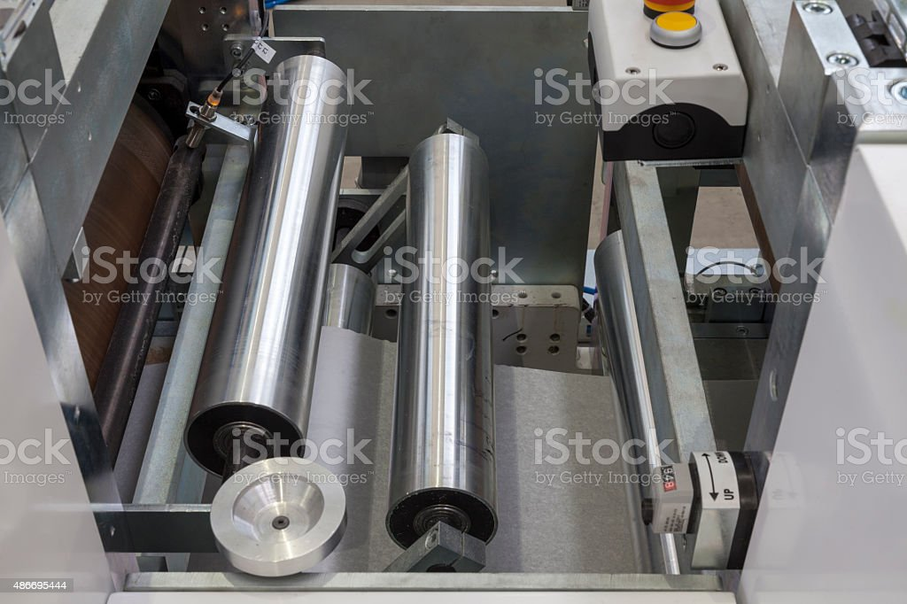 roll paper printing stock photo