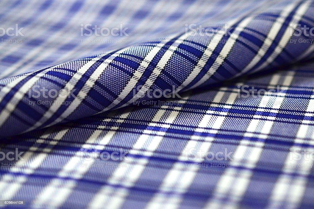 roll stripe dark blue and white pattern fabric of shirt stock photo