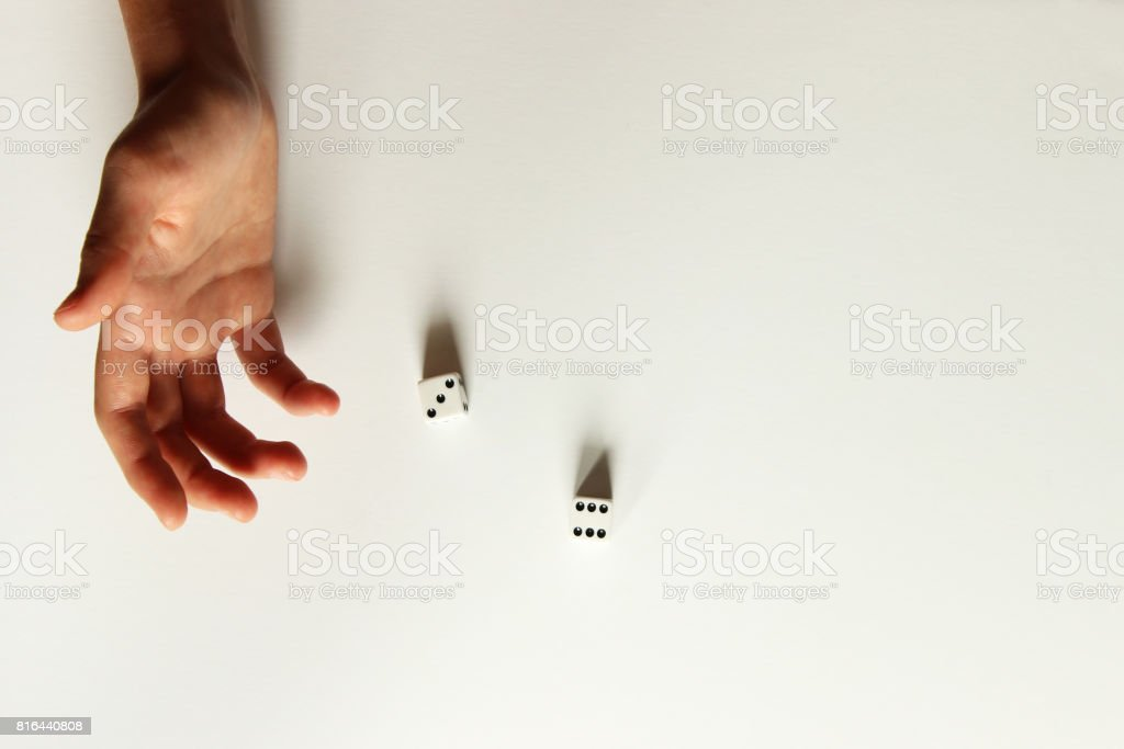 Roll the dice stock photo