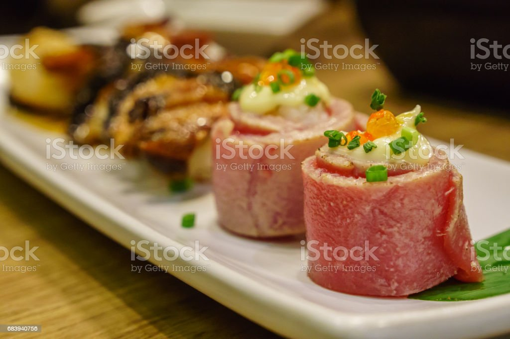 roll Tuna Sushi Japanese food stock photo