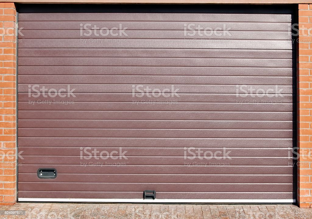 Roll Up Automatic Garage Gate stock photo