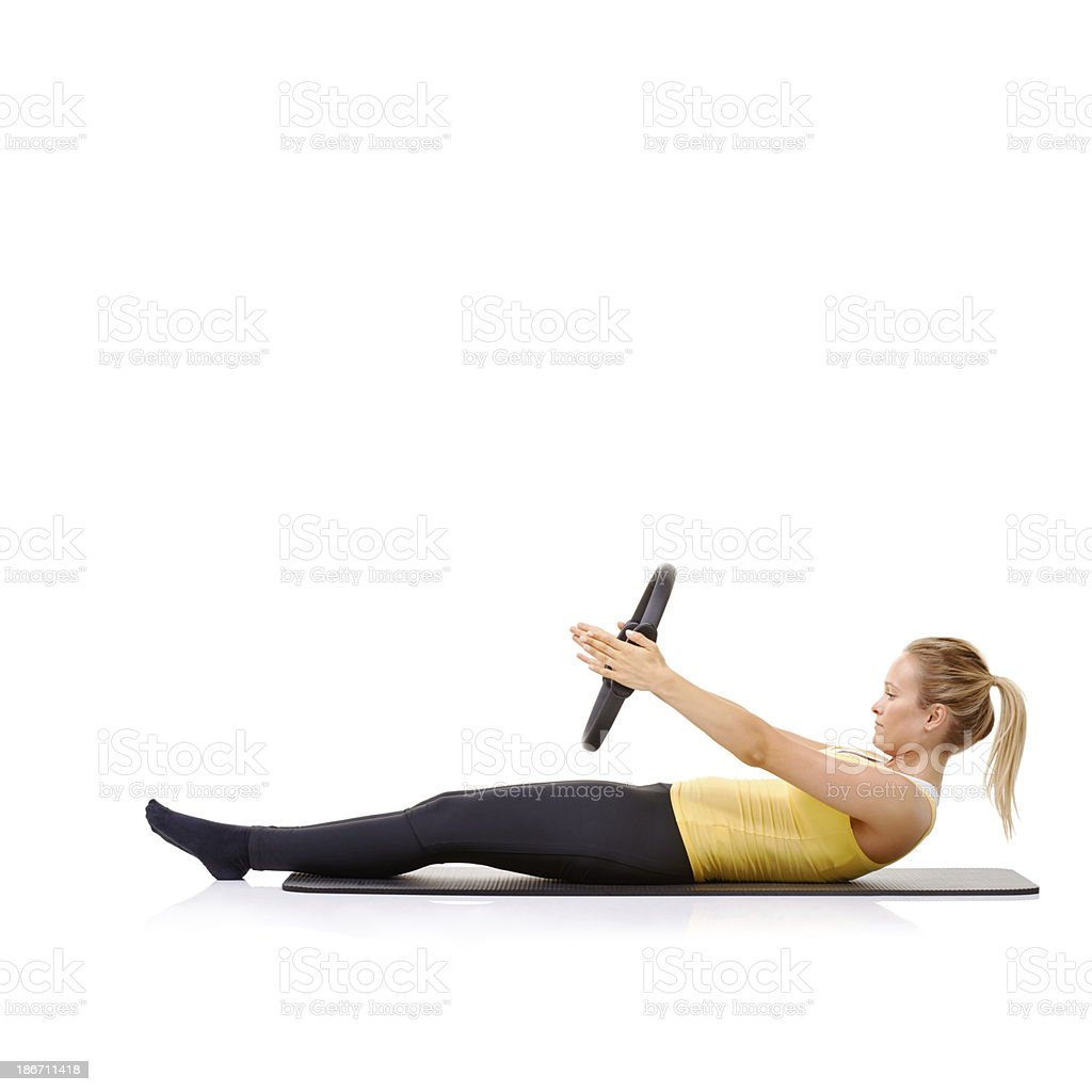 Roll up exercise royalty-free stock photo