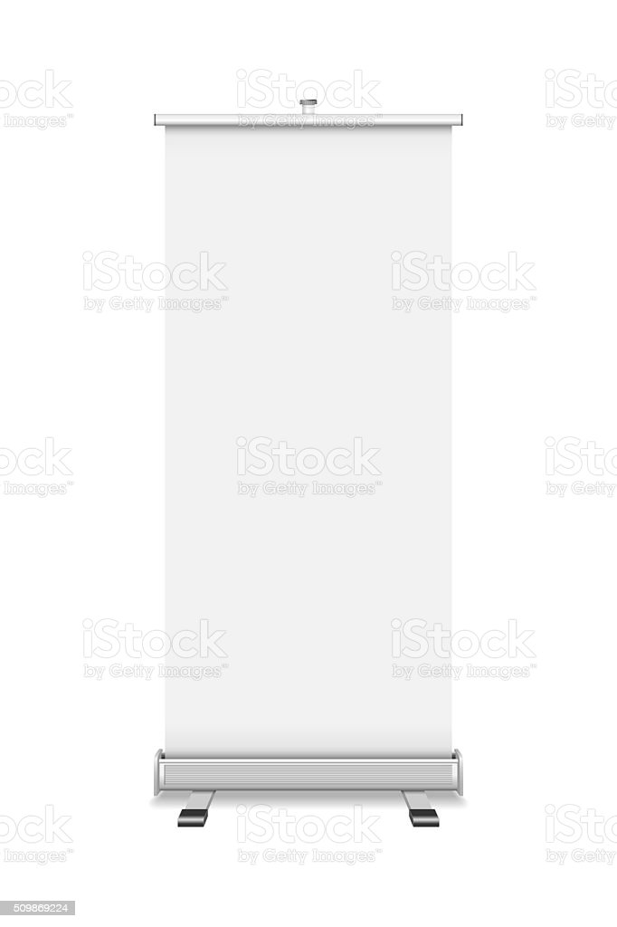 Roll Up isolated on white background stock photo