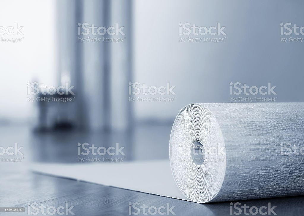Roll wallpapers royalty-free stock photo