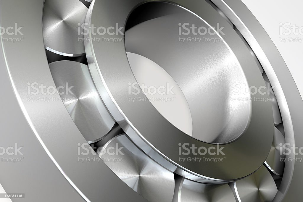 Rollbearing Close-up 3D Render royalty-free stock photo