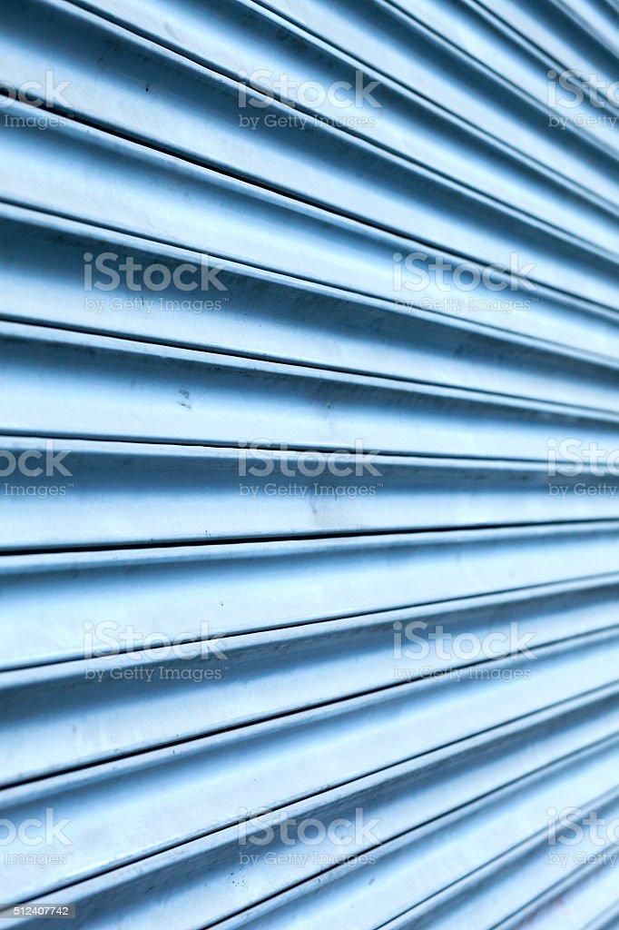 Roll-down shutter stock photo