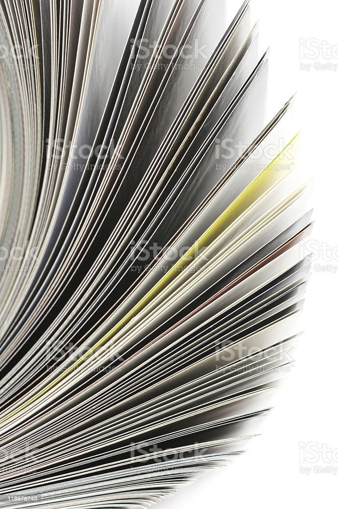 Rolled magazine stock photo