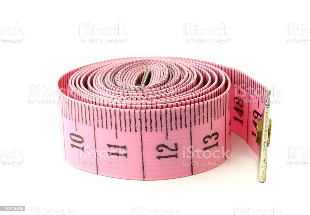 rolled measuring tape #2 royalty-free stock photo