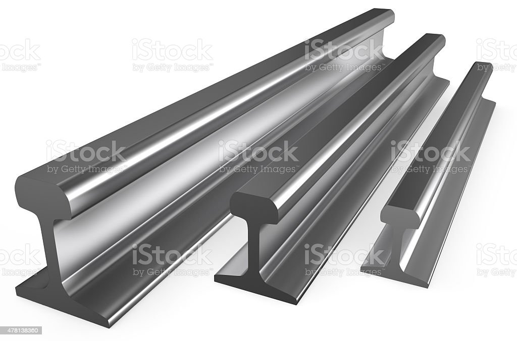 rolled metal, rails stock photo