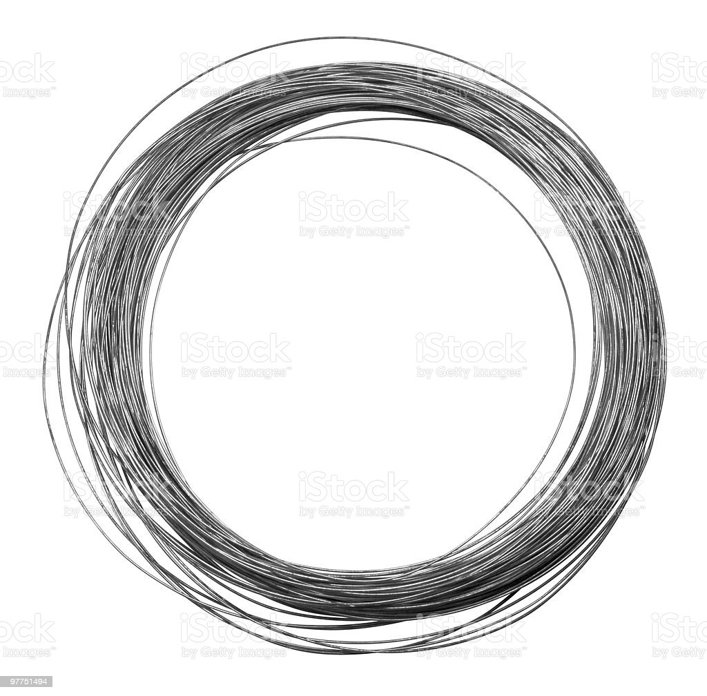 rolled metal wire royalty-free stock photo