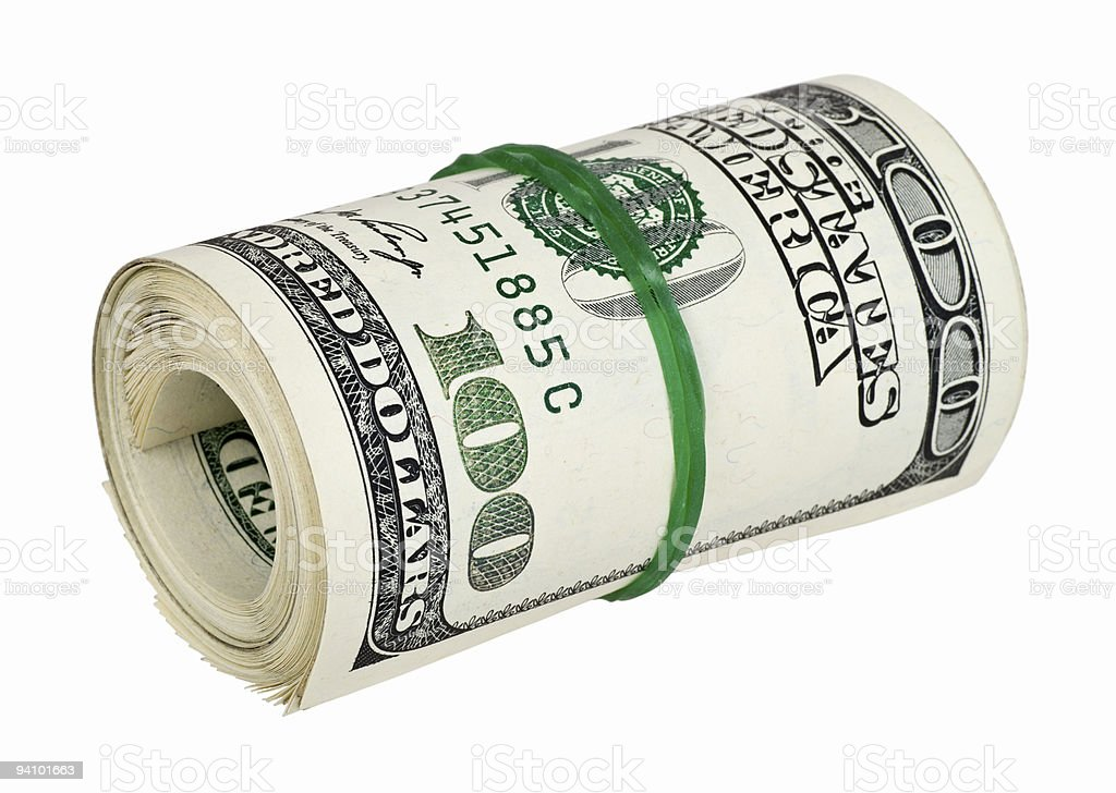 Toy Money Cut Outs : Rolled money cutout stock photo istock