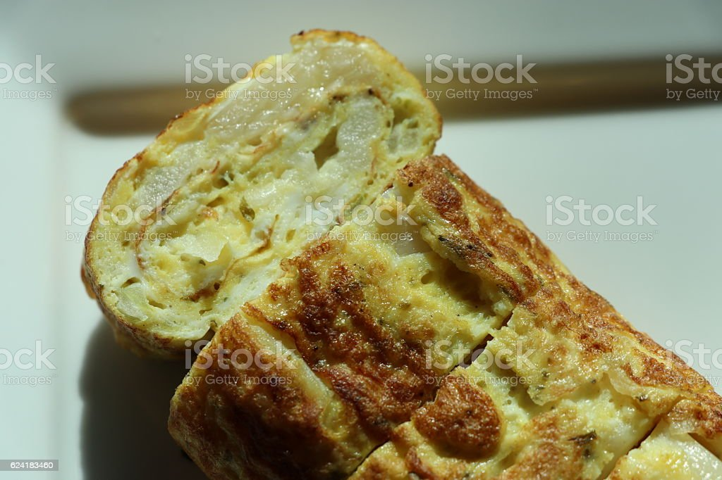 Rolled omelet stock photo