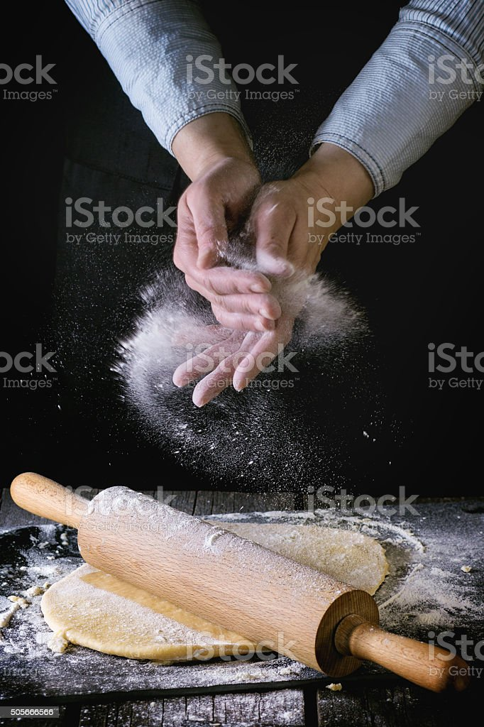 Rolled out dough stock photo