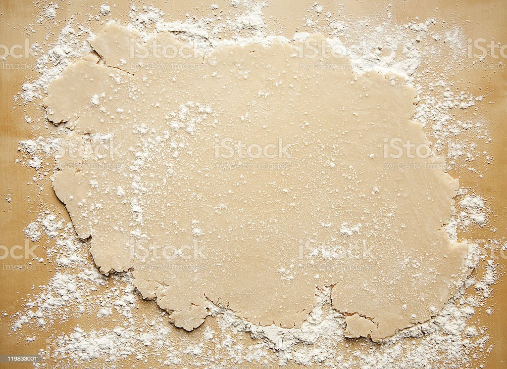 Rolled Out Pie Crust stock photo