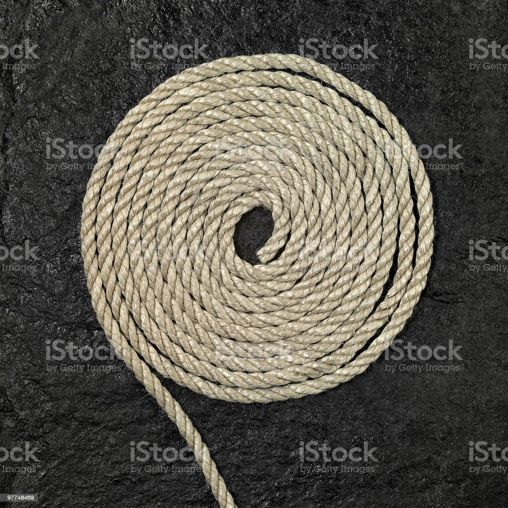rolled rope royalty-free stock photo