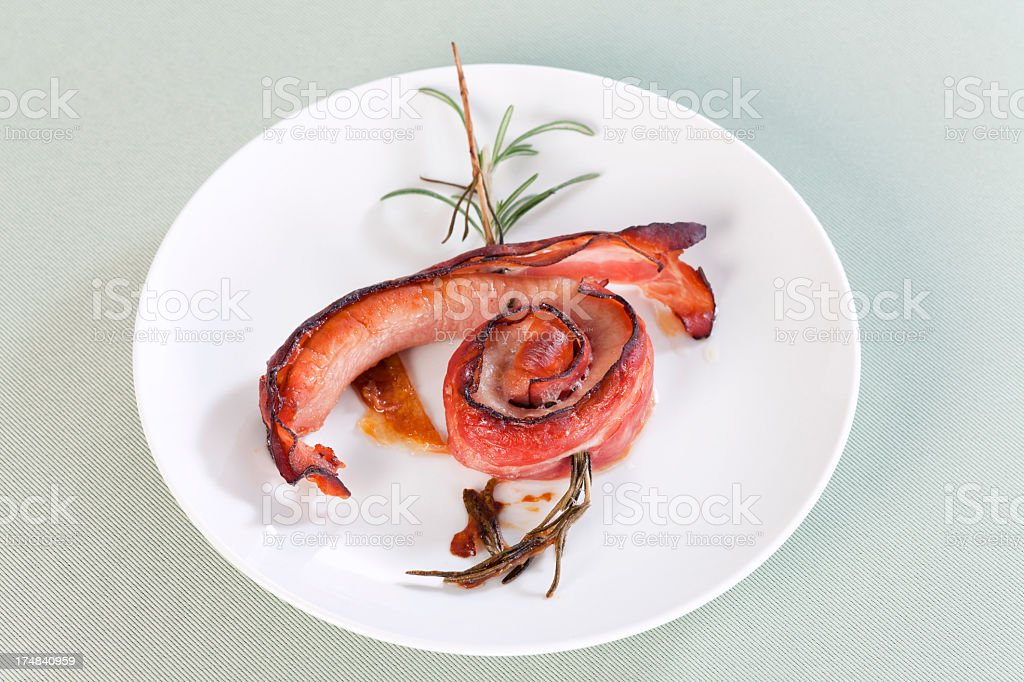 Rolled sausage royalty-free stock photo
