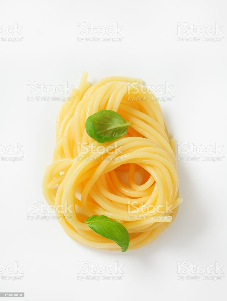 rolled spaghetti royalty-free stock photo