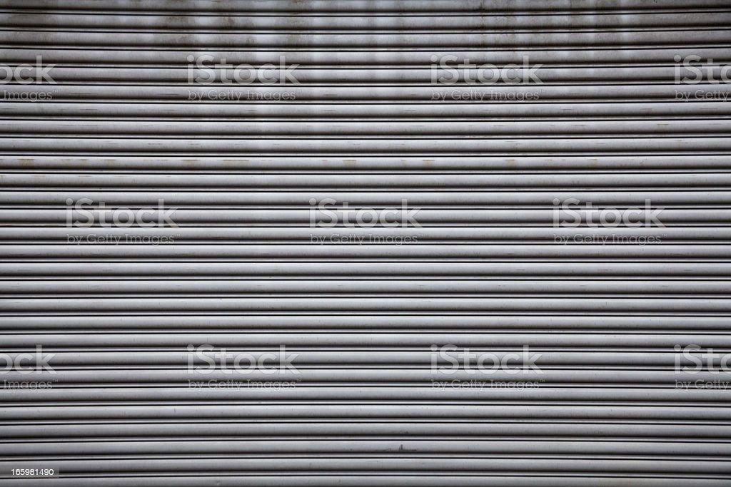 Rolled Steel Shutter Door stock photo