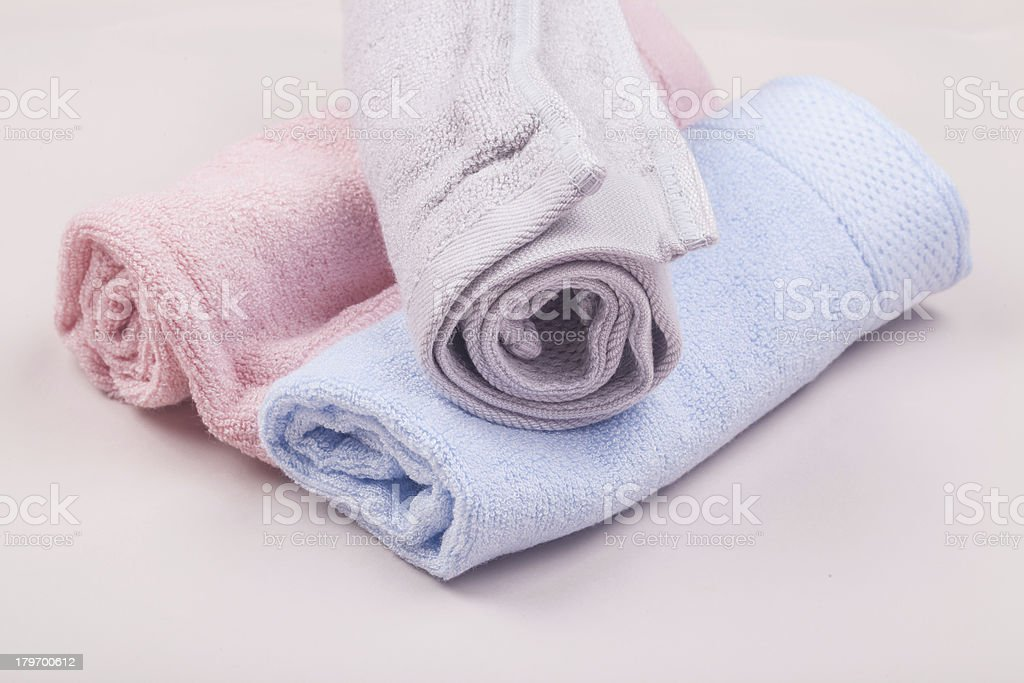 rolled towels royalty-free stock photo