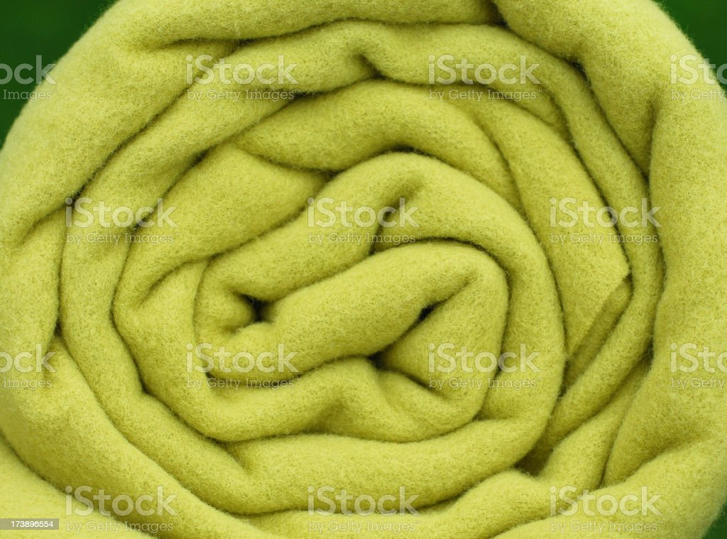 Rolled up blanket royalty-free stock photo