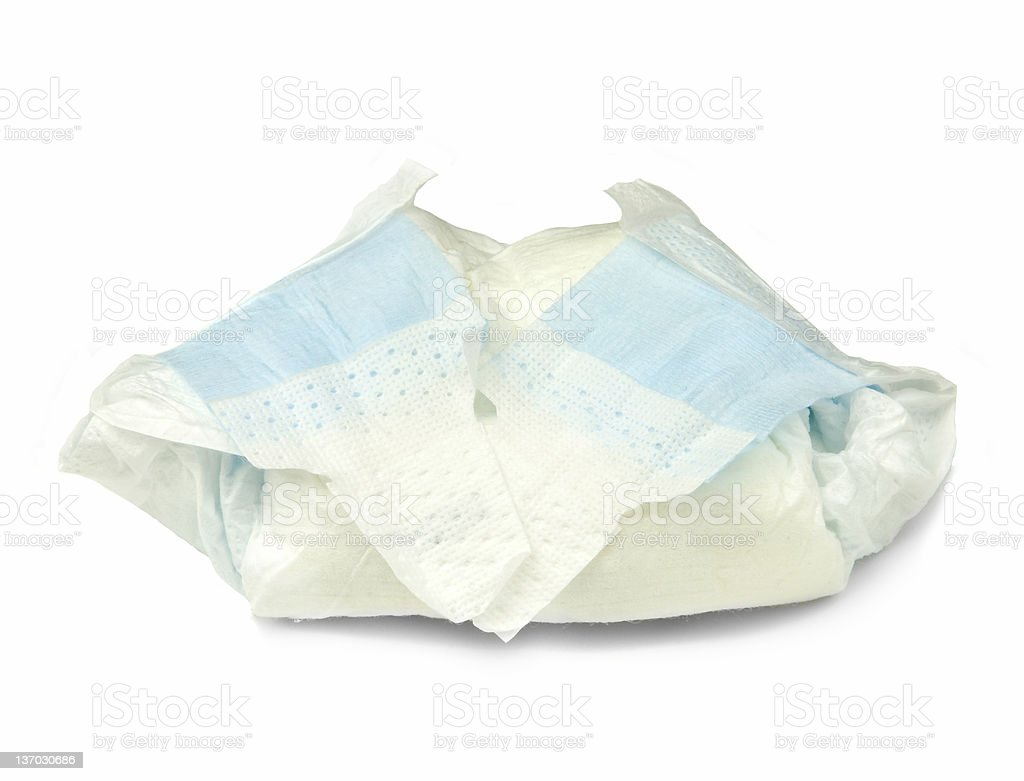 Rolled Up Diaper royalty-free stock photo