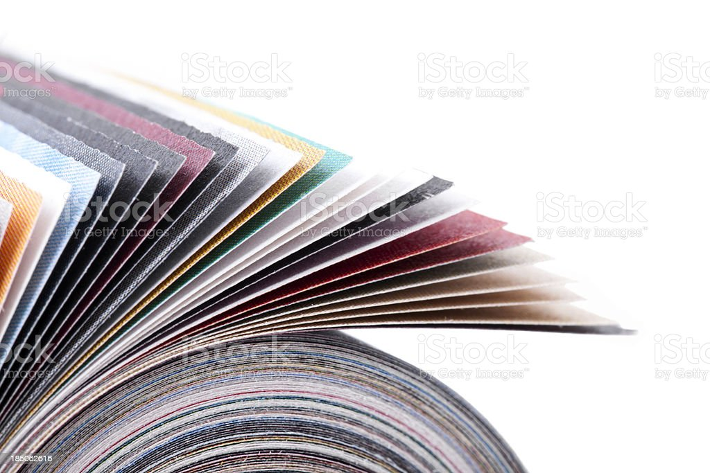 Rolled up magazine royalty-free stock photo