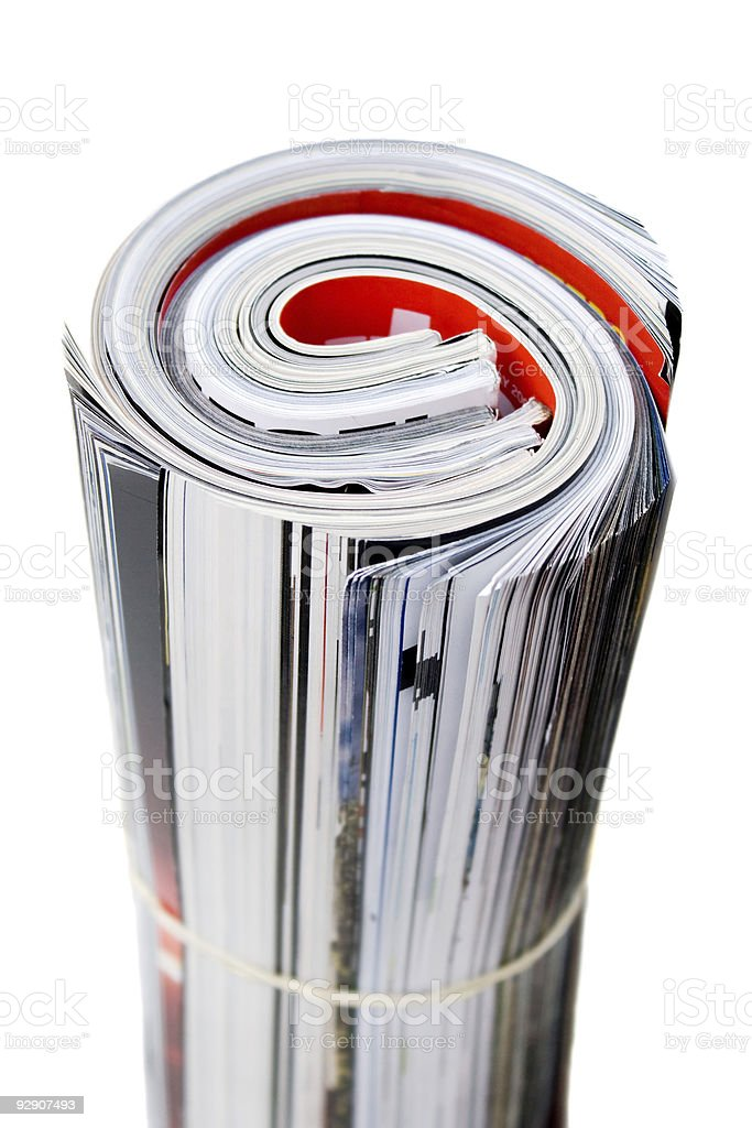 Rolled Up Magazines royalty-free stock photo