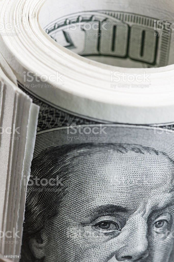 Rolled up money royalty-free stock photo