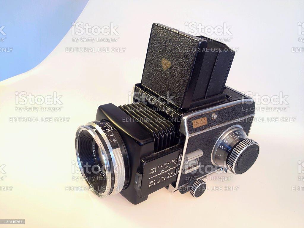 Rollei SL66 medium format camera stock photo
