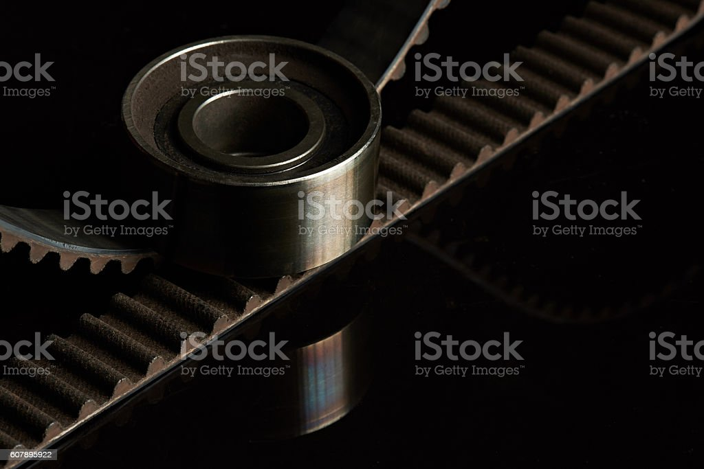 roller and belt parts stock photo
