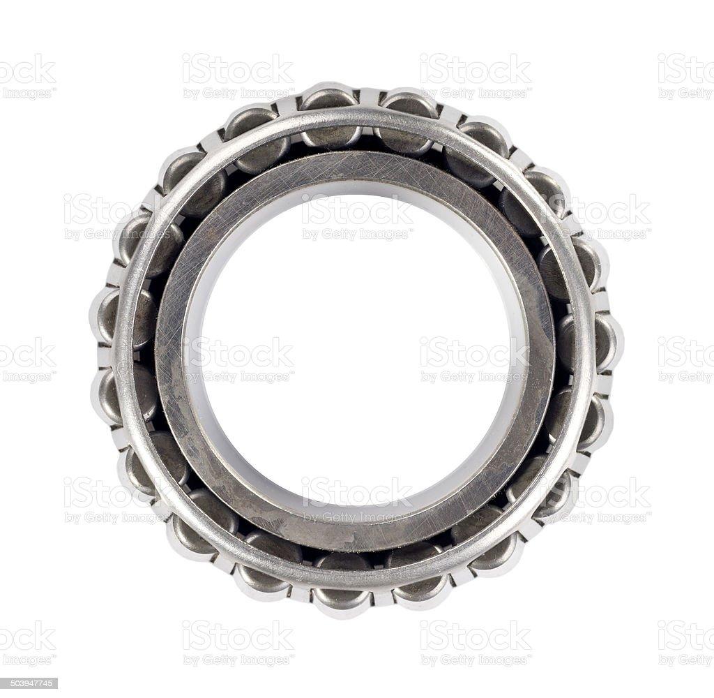 roller bearing, isolated on white background stock photo