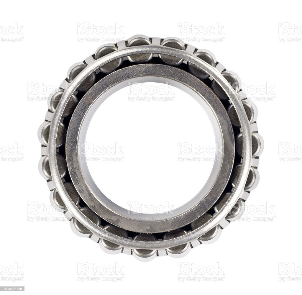 roller bearing, isolated on white background stock photo