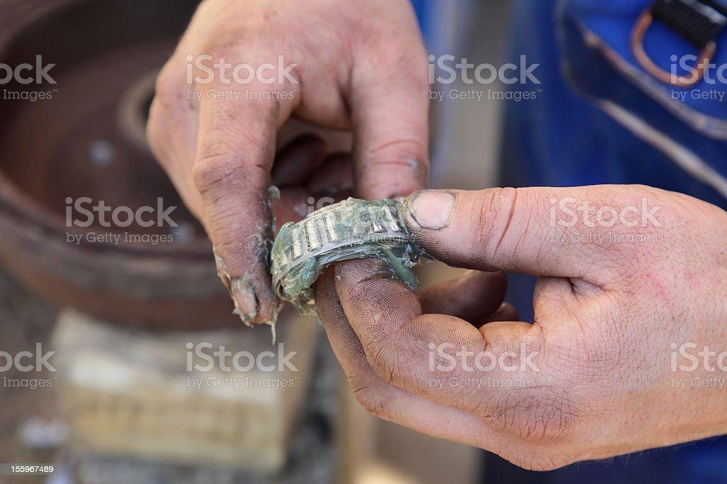 Roller bearing stock photo