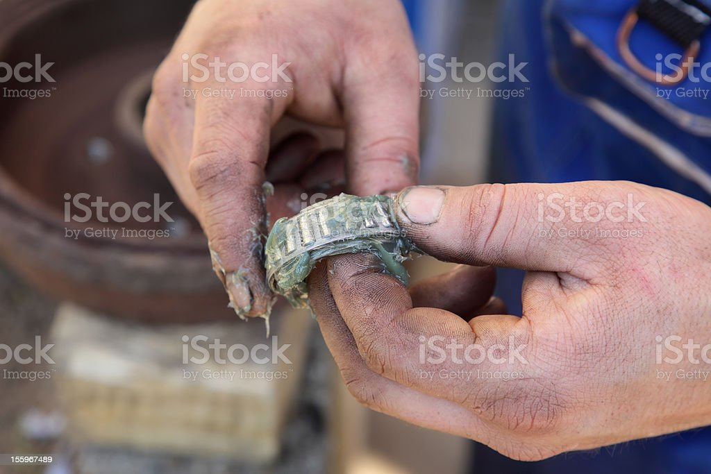 Roller bearing stock photo