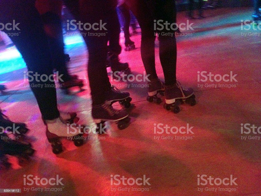 Roller Blade Disco stock photo