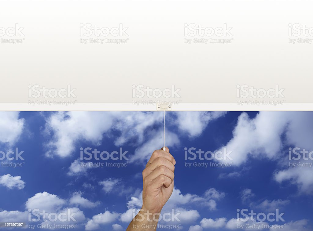 roller blind royalty-free stock photo