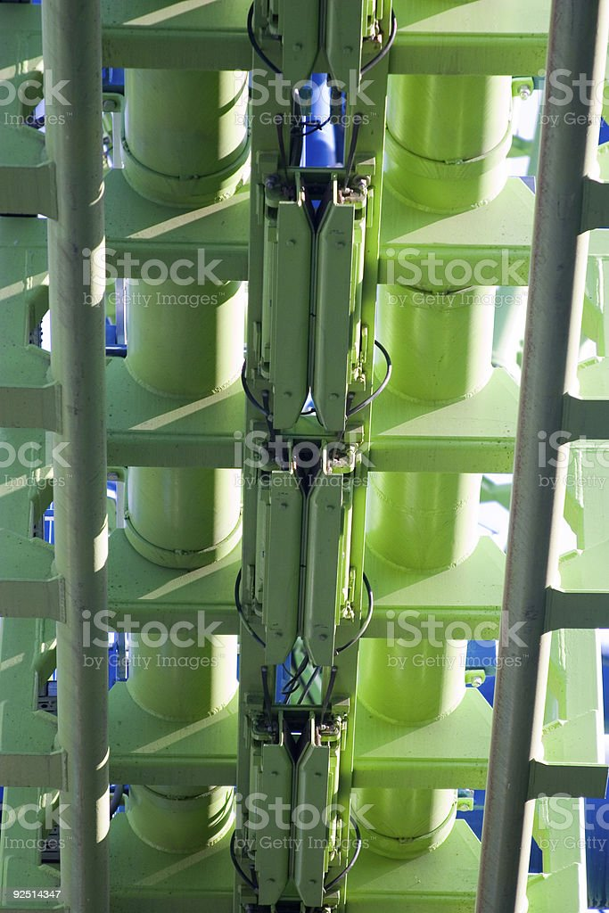roller coaster detail royalty-free stock photo