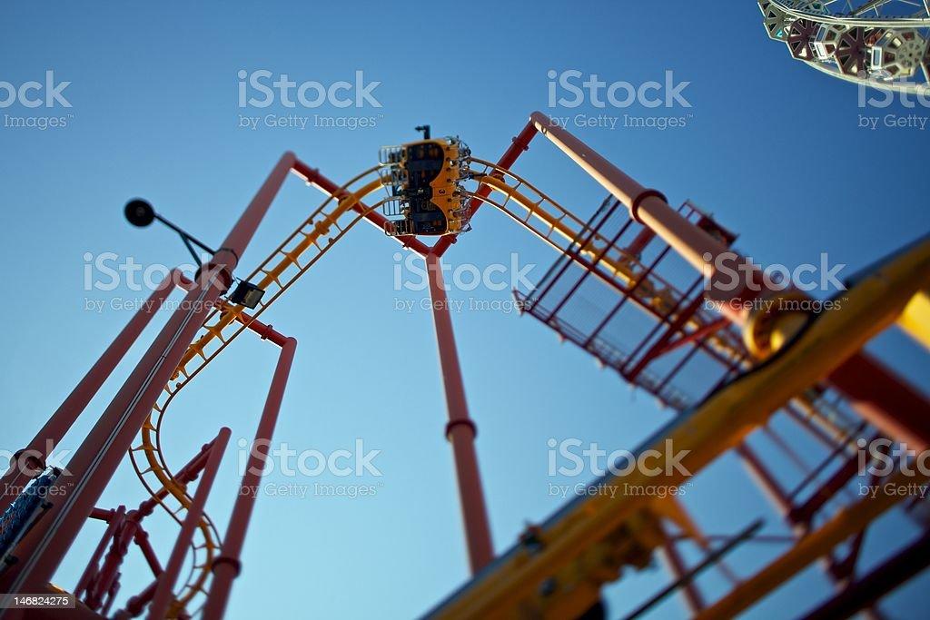 Roller coaster - filt-shift royalty-free stock photo