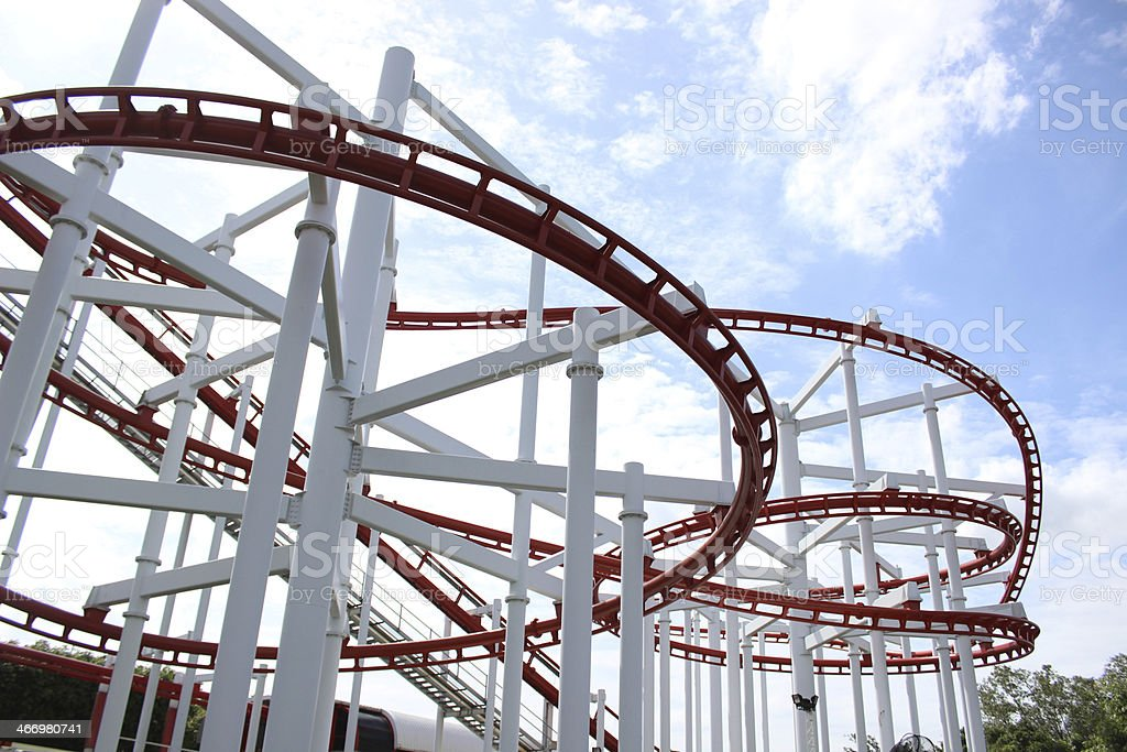Roller coaster in amusement park at Dream World, Thailand. royalty-free stock photo