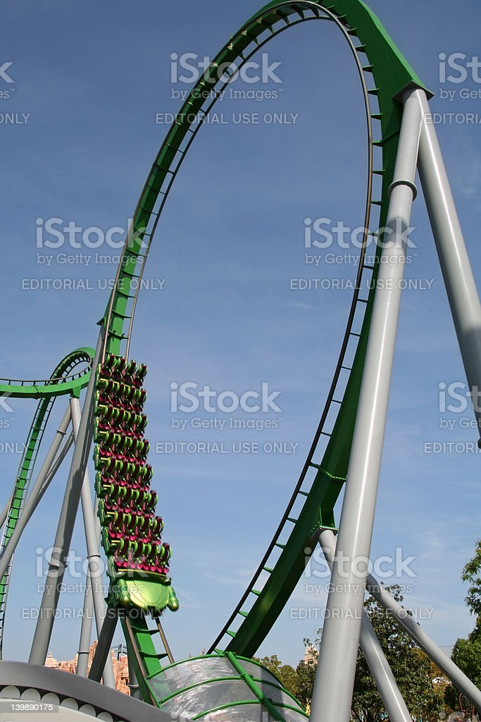 Roller Coaster Looper royalty-free stock photo