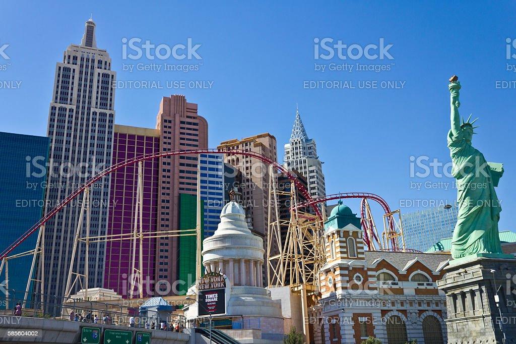 Roller Coaster of the New York-New York Hotel I stock photo