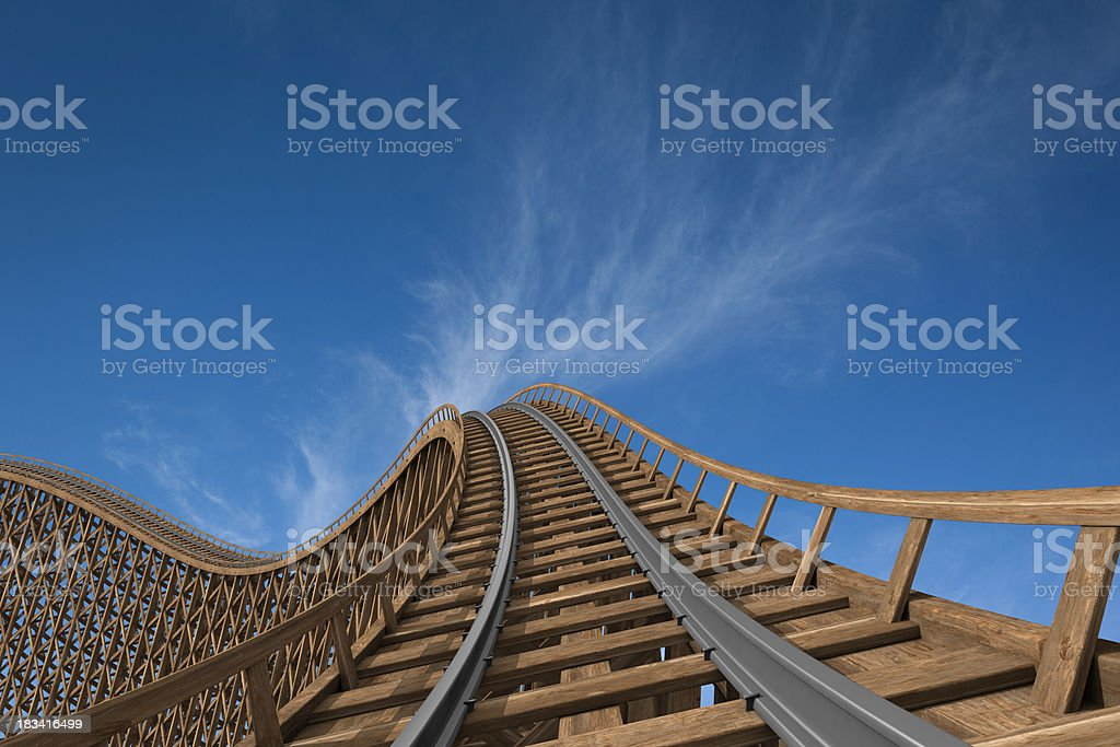 roller coaster stock photo
