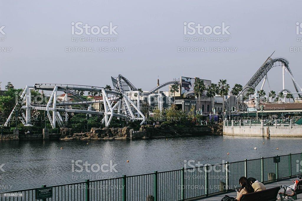 Roller coaster stock photo